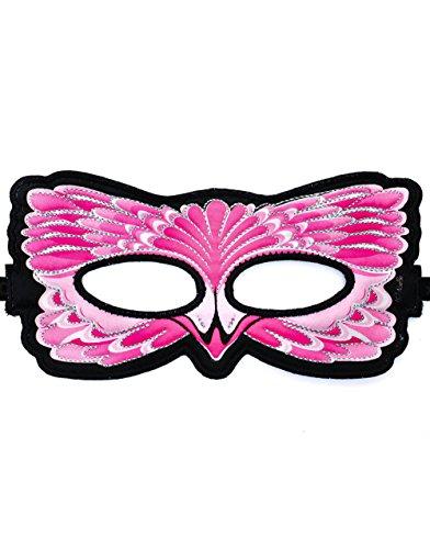 Dreamy Dress-Ups 67114 Mask, Stoffmaske, Flamingo, Vogel Rosaflamingo Phoenicopterus (Dress Flamingo Up)
