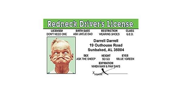 Fake Redneck Toys amp; in Games Fun Id License Amazon