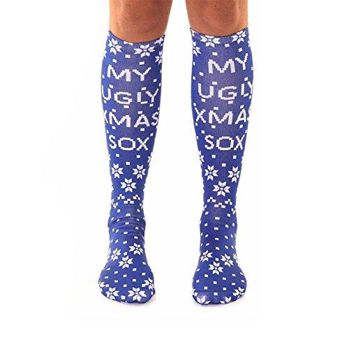 Erwachsene Weihnachten Hässliche Socke Lustige Familie Matched Long Stocking Weihnachtsgeschenk (1)