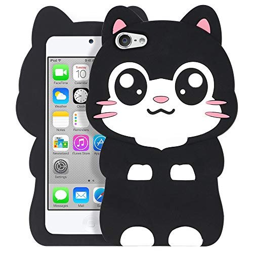Silikon-Schutzhülle für Apple iPod Touch 5 / Touch 6, 3D-Cartoon-Design, Pocket Cat