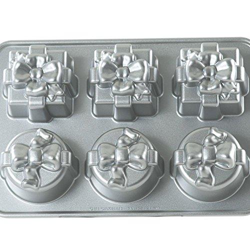 Nordic ware moule à gâteaux en forme de paquets, 6 en 1 moule