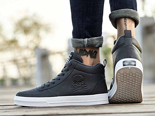 Hommes Casual Appartements Chaussures Automne Hiver Fourrure Doublé Skateboard Chaussures Top Sneakers Antiskid Chaud Formateurs Chaussures Gris