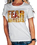 Stylotex Damen/Girlie T-Shirt Fear Los Angeles, Farbe:Weiss;Größe:L