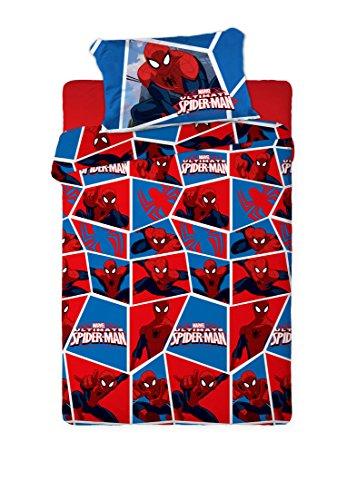 Disney - set di lenzuola termiche in pile, motivo spiderman, 150g para cama de 105x190