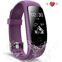 Scofit Fitness Tracker wasserdichte Aktivitätstracker, Smart Watch Bracelet mit Pulsmesser Herzfrequenzmesser, Schrittzähler, Schlaf Monitor, Kalorienzähler Fitness Uhr für Android und IOS Smartphones