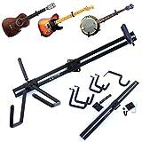 Nordell Premium horizontaler Wand-Aufhänger für Gitarre/Halterung für Elektro-, Akustik- und Bassgitarre