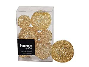 ASA selection 9 pièces-boules décoratives de fil métallique doré