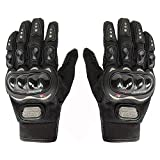#8: Probiker Synthetic Leather Motorcycle Gloves (Black, L)