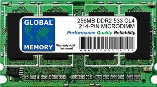 256mb Pc2-4200 Ddr2 Ram (GLOBAL MEMORY 256MB DDR2533MHz PC2-4200214-pin, MicroDIMM, Ram für Laptops/notebooks)