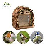 Gardigo Mangeoire pour Oiseaux | Maison à oiseaux en Bois Naturel | Décoration de Jardin