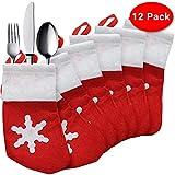 The Twiddlers 12 Mini Weihnachtsstrümpfe/Socken Saisonale Dekoration Besteck Tasche Weihnachten - Ideal für Besteck - Perfekte Dekoration für Ihren Weihnachtsfeier-Tisch