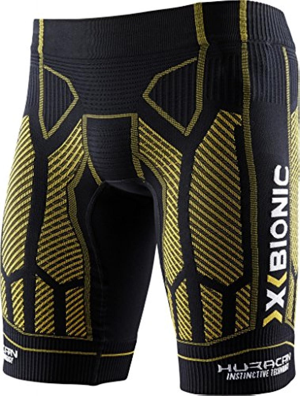 X-Bionic Hombre Lamborghini Running Pantalones Cortos oberbekleidung, hombre, Black/Yellow/Sunshine, xx-large