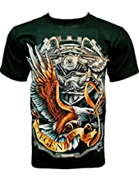 Rock Chang T-Shirt * Legendary Of Motorcycles * Glow In The Dark * Noir GR323