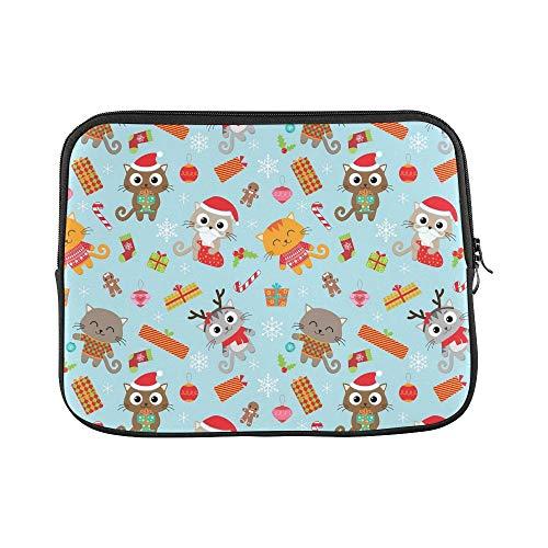 (JSXMNA Design benutzerdefinierte Weihnachten Nette Katzen kostüme hülse weiche Laptop Tasche Tasche Haut für MacBook air 11