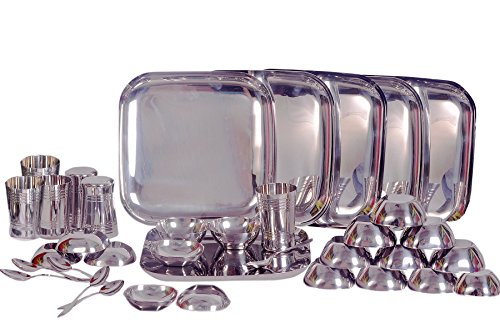 Dynore 36 pcs square design stainless steel dinner set  available at amazon for Rs.4299