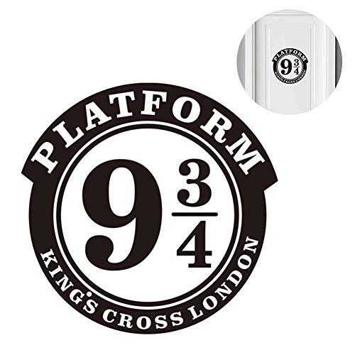"""Naisicatar 1pc Wall Sticker Platform 9 3/4 Harry Potter a tema decorazione della decalcomania della parete del vinile 8,7 pollici""""x8.9"""" per camera porta decorazione Nizza regalo"""