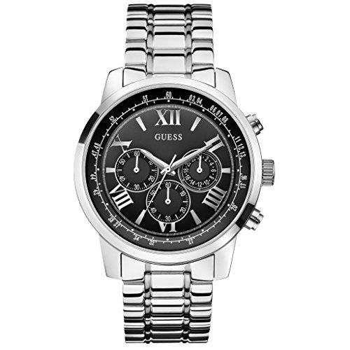 Guess Orologio da uomo Cronografo al quarzo in acciaio inox W0379G1