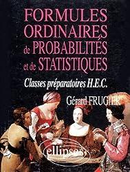 Formules ordinaires de probabilités et de statistiques : Classes prépas HEC