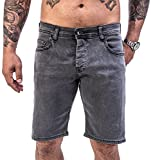 Rock Creek Herren Shorts Jeansshorts Denim Stretch Sommer Shorts Regular Slim [RC-2135 - Grey Wash - W40]