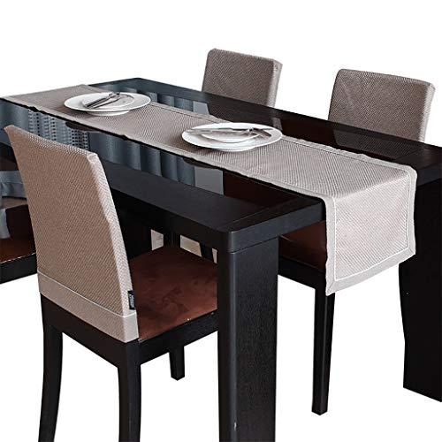 WYQ Tischläufer Kurze Tischläufer graues Plaid, Tischläufer aus Polyester für Familienessen, Zusammenkünfte, Partys, täglicher Gebrauch (3 Größen verfügbar) (Farbe : Gray, größe : 32×200cm)