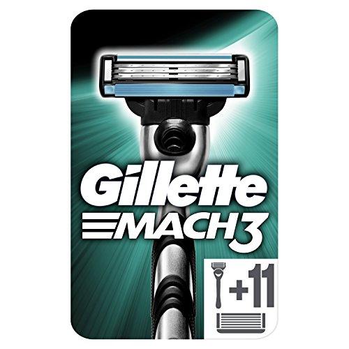 Gillette Mach3 - Maquinilla para hombre + 12 recambios de hojas de afeitar