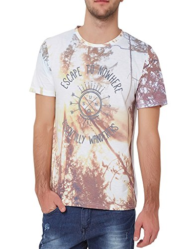 Elaborado Men's Round Neck Tshirt - White - M - EAIS5133WH2