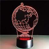 KAIYED Nachtlicht Erde Globus DIY Atmosphäre Led Lampe 3D Illusion Kreative Dekorative Nachtlampe USB Urlaub Nachtlicht Mit 7 Farben