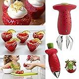 Digital Portable Strawberry Berry Stem Blätter entstrunker Gem Entferner entfernen Fruit Apfelentkerner Küche Werkzeug, Strawberry Berry Entferner