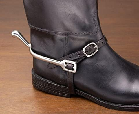 EquiRoyal Leather Spur Straps - Black - 21 by JT