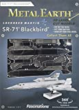Fascinations Metal Earth MMS062 - 502484, SR71 Blackbird, Konstruktionsspielzeug, 1 Metallplatine, ab 14 Jahren