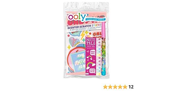 Ooly Happy Pack Duftende Rubbel Aufkleber Glitzerstab Klebestreifen Heart Girl Power Happy Pack Bürobedarf Schreibwaren