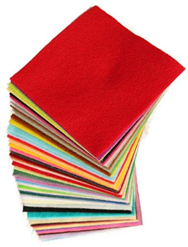 Life Glow DIY Polyester-Filz nicht gesponnenes Gewebe Blatt für Handwerk 42 Farben Super Soft Quadrate 15 * 15cm / 5.9 * 5.9inch, etwa 1,5 mm Dicke (15*15 cm, (Puppe Kostüm Papier Diy)