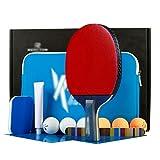 X&M Ping Pong Paddel-Premium-Qualität von tischtennisschläger mit Komfortabler Griff – überlegene Rubber & Elastische Schwamm – Umfasst schläger Bag Geschenk-B