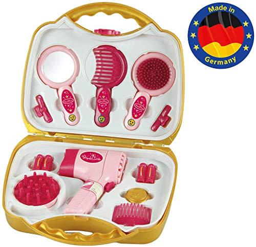Theo Klein-5293 Princess Coralie maletín con secador eléctrico, Juguete, Multicolor (5293)