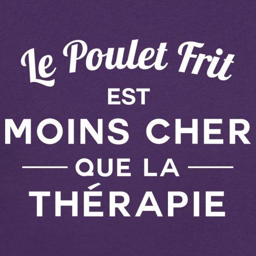 Le poulet frit est moins cher que la thérapie - Femme T-Shirt - 14 couleur Violet