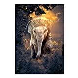 ECMQS Elefant DIY 5D Diamant Painting Full Set, Crystal Strass Stickerei Painting Diamond Dekoration Für Home Wall Décor