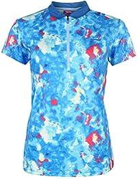 Slazenger Mujer Fashion Manga Corta Golf Polo Camisa Señoras Camiseta Top