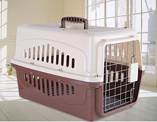 KKZLL Transportbox Box-Hund und Katze Haustier auf Reisen Käfig tragbaren Käfig Airbox , 2 , s