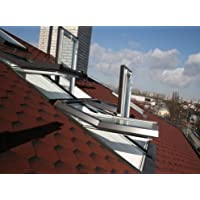 AFG - KOSTENLOSER VERSAND Skylight Kunststoff Dachfenster PVC 114 x 118 mit Eindeckrahmen