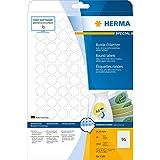 Herma 4386 Etiketten (A4 Ø20 mm rund Movables/ablösbar Papier matt) 2400 Stück weiß