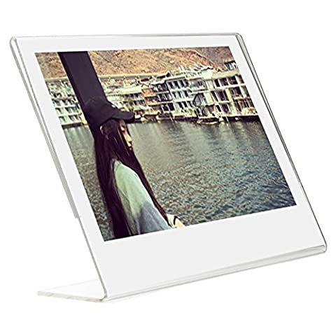 Woodmin Acrylic Slant Photo Frame for Fujifilm Instax Wide 300, Wide 210 films and other 5-inch films, Sign Holders Vertical (1
