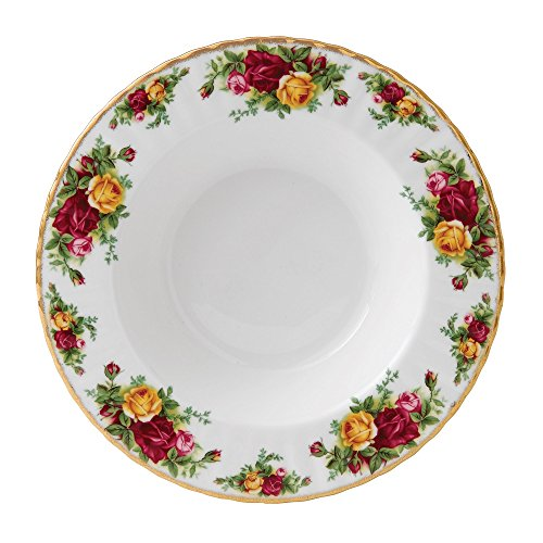 Old Country Roses by Royal Albert Rand 21 cm Suppenteller Old Country Roses Bone China