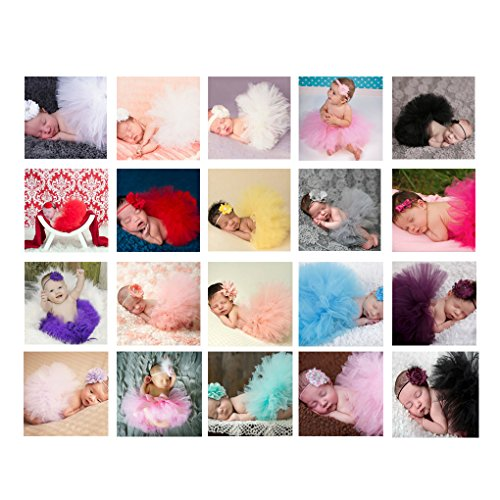 Busirde Cute Princess Newborn Photography Props Infant Costume Outfit with Flower Headband Baby Girl Summer Dress 11