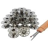 Nähmaschinenspulen Metall 35 Spulen 22x11mm 6,3mm Lochung