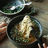 Bol à salade Céramique Avec couvercle Bol de nouilles instantanées Bol japonais Bol à soupe Bol à ramen Couvercle (deux bols) ( Color : Black , Size : 16.8*8.8cm/15.5*5.8cm )