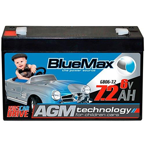 Preisvergleich Produktbild BlueMax KidsCar AGM GEL Bleiakku - 6 V / 7,2 Ah Bleigel Akku Gelakku Elektroauto