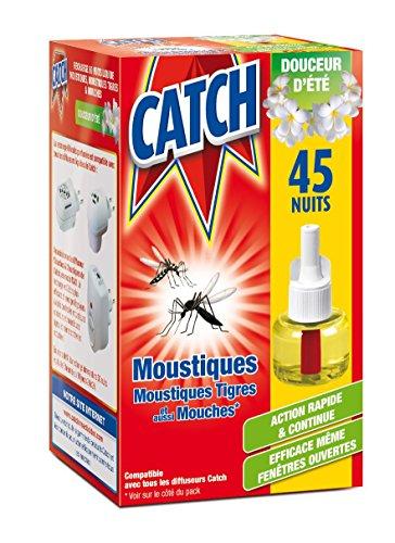 CATCH Recharge Diffuseur Électrique Anti-moustiques Liquide Parfumée 45 Nuits
