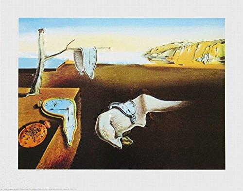 or Dali - Persistence of Memory (Hartnäckige Erinnerung) - 60.6 x 44.5cm - Premiumqualität - , Surrealismus, Klassische Moderne, Fantasie, Wohnzimmer, Treppenhaus - MADE IN GERMANY - ART-GALERIE-SHOPde ()