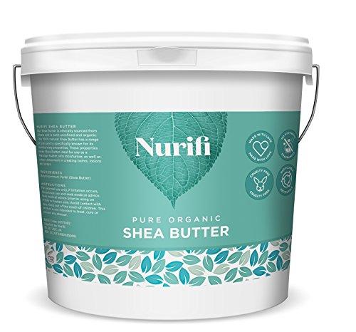 500g Bio Sheabutter unraffiniert - von Nurifi - 100% Vegan, Rein, Roh & Natürlich - Lebensmittelqualität - Zertifizierter ethischer Anbau aus Ghana - Nachhaltige Herstellung ohne Zusatzstoffe - Heilende Feuchtigkeitsspendende Balsam
