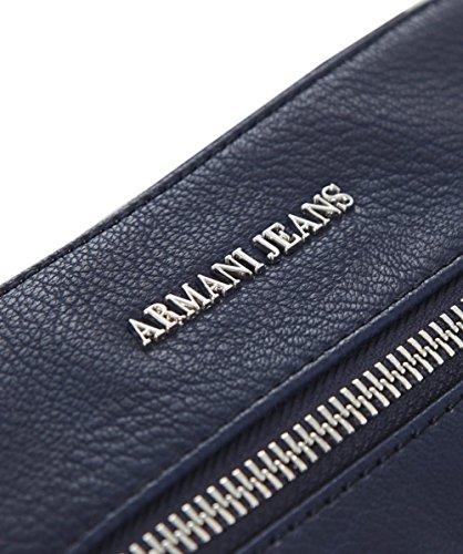 Armani Jeans Hommes Petit Faux cuir Flight Bag Bleu Blu
